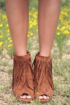 open toe fringe