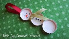 bottle-cap-snowman-ornament-craft