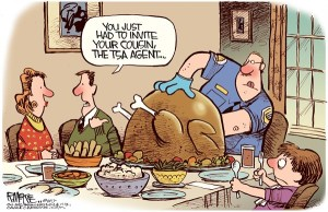 You-Had-To-Invite-Your-Cousin-The-Agent-Funny-Cartoon-Thanksgiving
