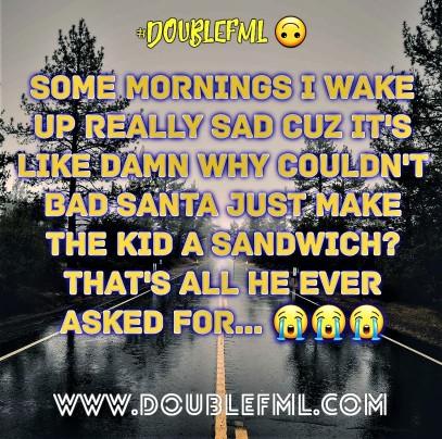 #DoubleFML bad santa