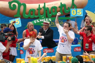 Nathan's Hot Dog Eating Contest Features Re-Match Of Champions